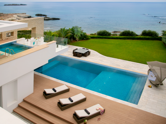 Detached villas for sale on Cova Resort & Residences, St. Georges Bay, Cyprus.