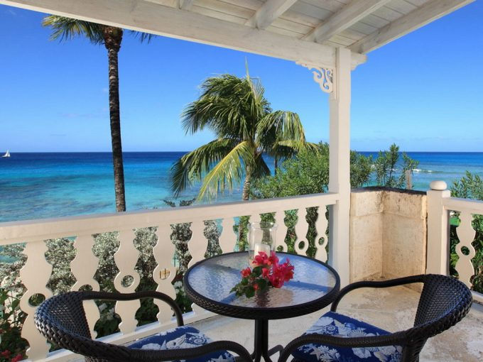 Beach fronted villa form sale in Barbados, the Caribbean.