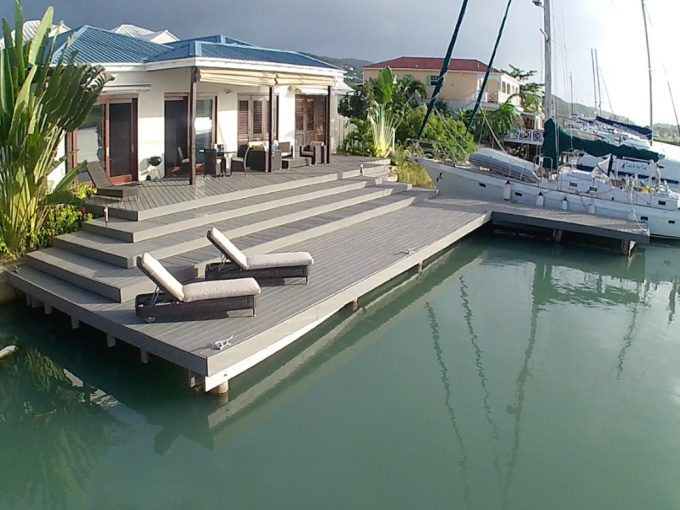 Harbourside property for sale in Antigua, the Caribbean.