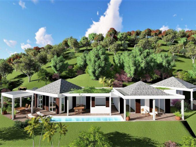 New build villas for sale in Antigua,the Caribbean.