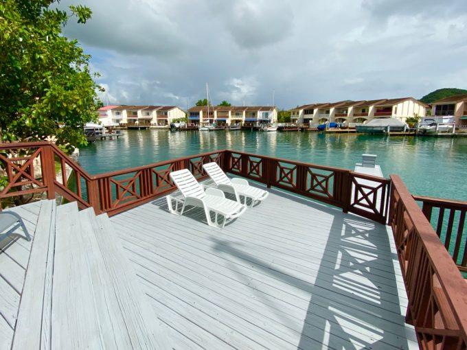 Marina villa for sale in Antigua, the Caribbean.